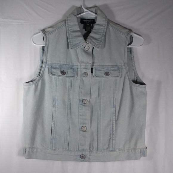Lauren Jeans Co Size 10P Vest Jean Jacket